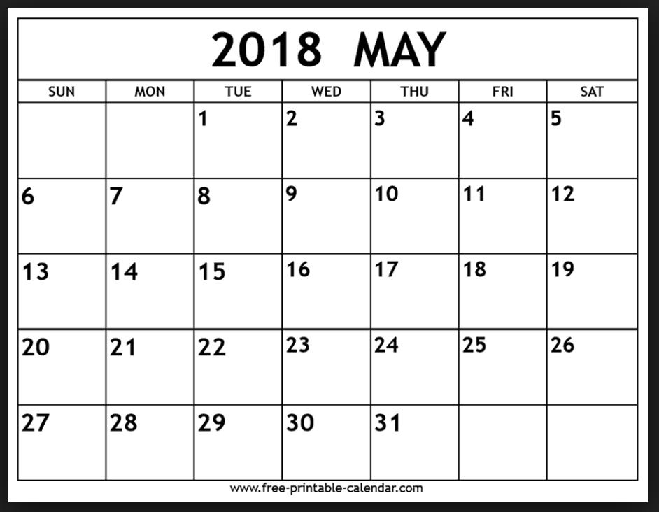 May 2018