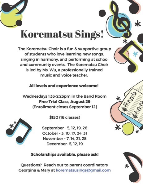 Korematsu Choir Fall 2018  Image